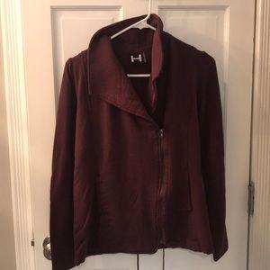 Maroon zip up soft hoodie